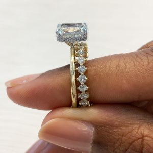 How to Pair an Engagement Ring and Wedding Band