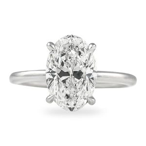 2.50 ct Oval Diamond Solitaire Engagement Ring