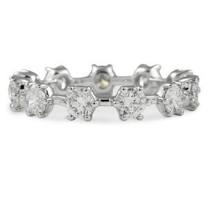 diamond snowflake eternity band