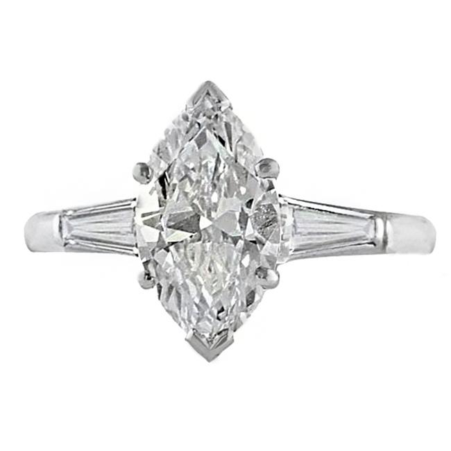 1.75 ct Marquise Diamond Platinum Engagement Ring
