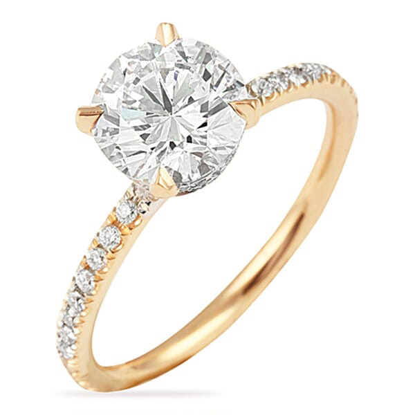 1.55 ct Round Diamond Two-Tone Signature Wrap Engagement Ring, E Color