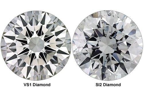 VS1 diamond versus I1 diamond clarity