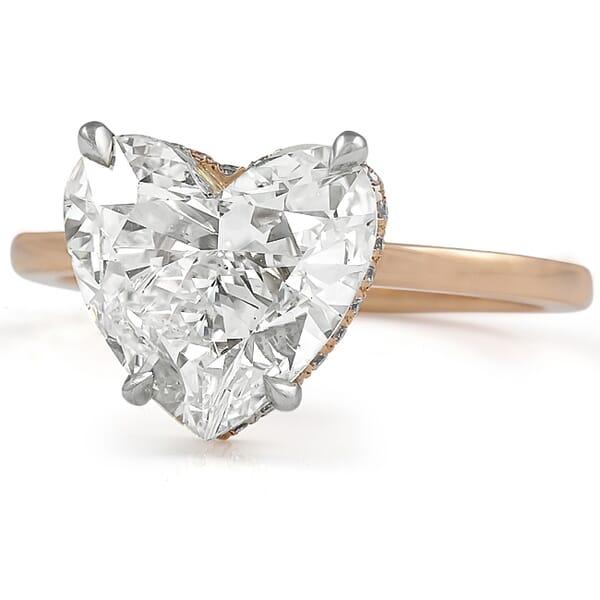 2.7 ct Heart Shape Diamond Signature Wrap Solitaire