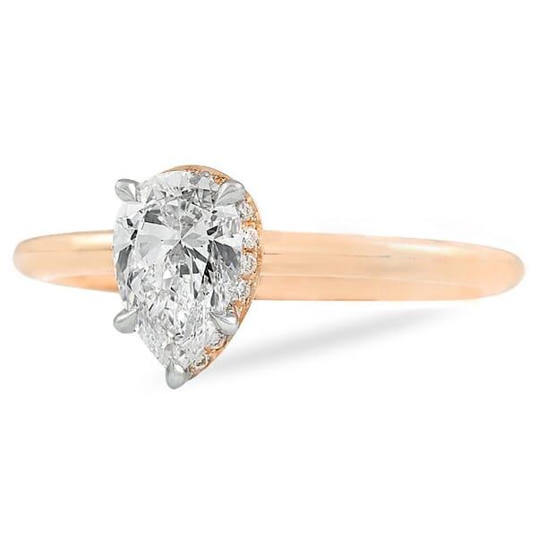 .70 ct Pear Shape Diamond Hidden Halo™ Ring
