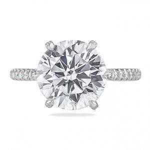 4.30 Carat Round Diamond Six-Prong Engagement Ring
