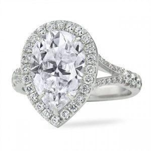 pear moissanite engagement rings