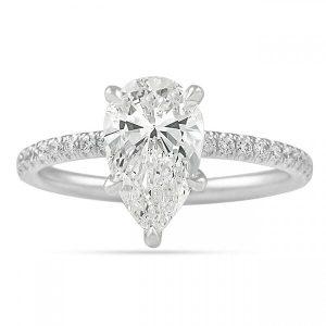pear shape diamond engagement rings