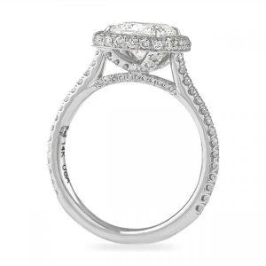 cushion halo engagement rings