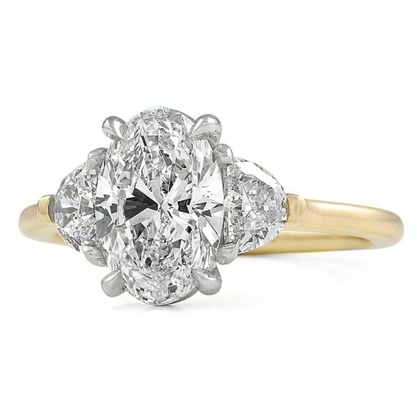 1.70 carat Oval Diamond Three-Stone Engagement Ring