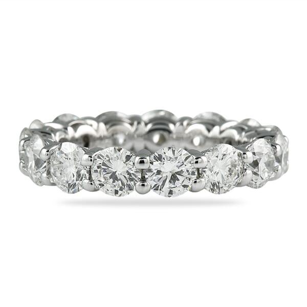 4.50 Ct Round Diamond Prong Basket Eternity Band Ring