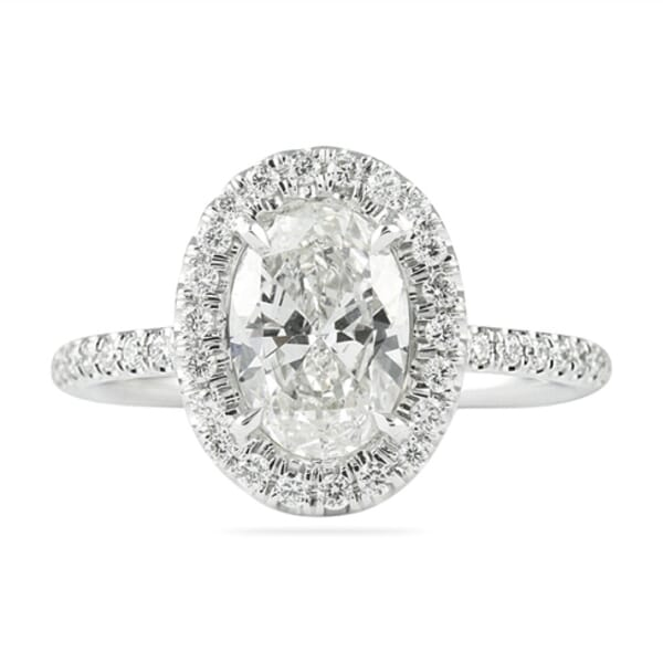 1.21 ct Oval Diamond Classic Halo Engagement Ring