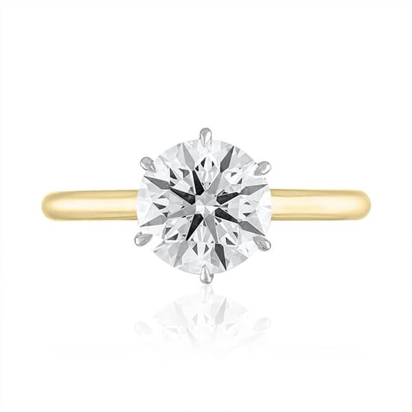 1.81 Carat Round Diamond Invisible Gallery™ Solitaire Ring, G Color
