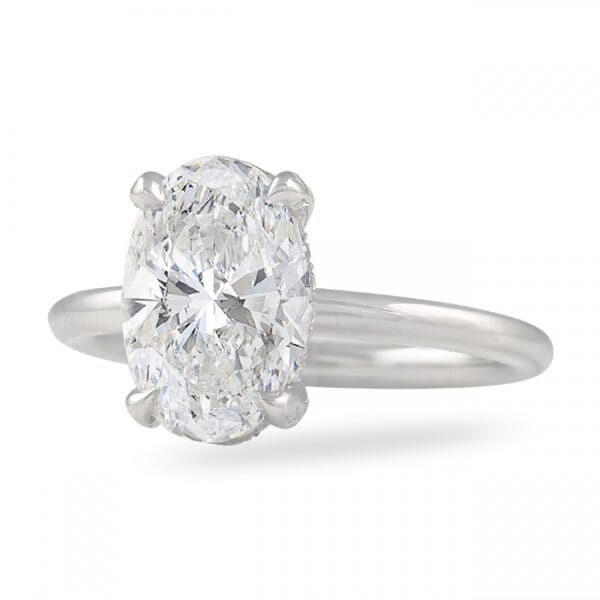 2.32 Ct Oval Diamond Solitaire Engagement Ring