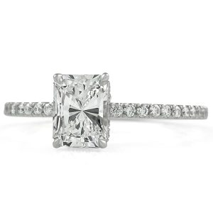 radiant cut diamond engagement rings
