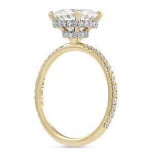 Round Moissanite Double Signature Wrap Engagement Ring
