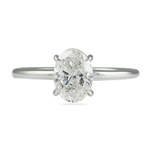 1.00 ct Oval Diamond White Gold Solitaire Engagement Ring