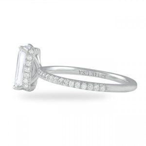 1.50 Carat Hybrid Step Cut Diamond Signature Wrap Ring