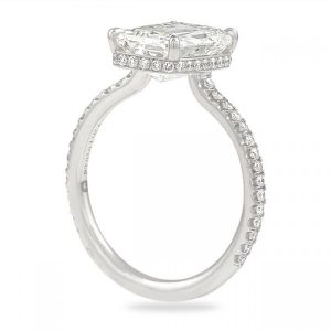 3.04 ct Hybrid Step Cut Diamond Invisible Gallery™ Ring