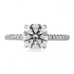 1.67CT Round Diamond White Gold Engagement Ring
